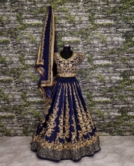GOSIYA EXPORTS PRESENTS D.NO 7008 WEDDING COLLECTION LEHENGA WHOLESALE SUPPLIER BEST RATE SURAT (1)