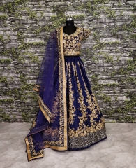 GOSIYA EXPORTS PRESENTS D.NO 7008 WEDDING COLLECTION LEHENGA WHOLESALE SUPPLIER BEST RATE SURAT (3)
