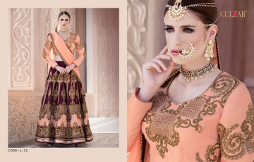 GULZAR BRIDAL LEHENGHA COLLECTION WHOLESALE BEST RATE BY GOSIYA EXPORTS SURAT INDIA (1)