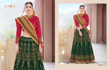 GULZAR BRIDAL LEHENGHA COLLECTION WHOLESALE BEST RATE BY GOSIYA EXPORTS SURAT INDIA (2)