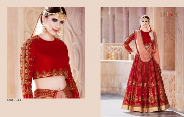 GULZAR BRIDAL LEHENGHA COLLECTION WHOLESALE BEST RATE BY GOSIYA EXPORTS SURAT INDIA (3)