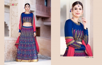 GULZAR BRIDAL LEHENGHA COLLECTION WHOLESALE BEST RATE BY GOSIYA EXPORTS SURAT INDIA (4)