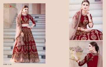 GULZAR BRIDAL LEHENGHA COLLECTION WHOLESALE BEST RATE BY GOSIYA EXPORTS SURAT INDIA (5)