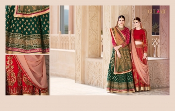 GULZAR BRIDAL LEHENGHA COLLECTION WHOLESALE BEST RATE BY GOSIYA EXPORTS SURAT INDIA (8)