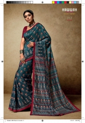HAWWAH 711-720 SERIES PURE NATURAL FABRICS SAREES CATALOG WHOLESALE SUPPLIER ONLINE BEST RATE BY GOSIYA EXPORTS SURAT (2)