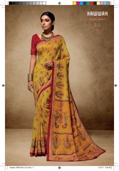 HAWWAH 711-720 SERIES PURE NATURAL FABRICS SAREES CATALOG WHOLESALE SUPPLIER ONLINE BEST RATE BY GOSIYA EXPORTS SURAT (3)