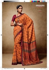 HAWWAH 711-720 SERIES PURE NATURAL FABRICS SAREES CATALOG WHOLESALE SUPPLIER ONLINE BEST RATE BY GOSIYA EXPORTS SURAT (5)