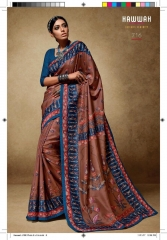 HAWWAH 711-720 SERIES PURE NATURAL FABRICS SAREES CATALOG WHOLESALE SUPPLIER ONLINE BEST RATE BY GOSIYA EXPORTS SURAT (6)