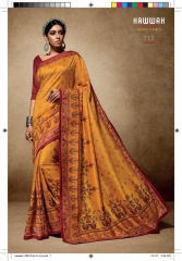 HAWWAH 711-720 SERIES PURE NATURAL FABRICS SAREES CATALOG WHOLESALE SUPPLIER ONLINE BEST RATE BY GOSIYA EXPORTS SURAT (7)