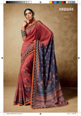HAWWAH 711-720 SERIES PURE NATURAL FABRICS SAREES CATALOG WHOLESALE SUPPLIER ONLINE BEST RATE BY GOSIYA EXPORTS SURAT (8)