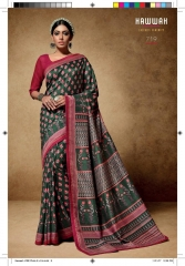HAWWAH 711-720 SERIES PURE NATURAL FABRICS SAREES CATALOG WHOLESALE SUPPLIER ONLINE BEST RATE BY GOSIYA EXPORTS SURAT (9)