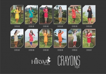HIRWA CRAYONS PURE RAYON EMBROIDERED KURTIS WHOLESALE DEALER BEST RATE BY GOSIYA EXPORTS SURAT (12)