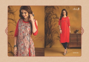 HIRWA GEMS PURE RAYON WITH CREAP JACKET KURTI WHOLESALE BEST RATE BY GOSIYA EXPORTS SURAT (1)