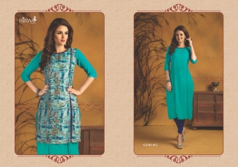 HIRWA GEMS PURE RAYON WITH CREAP JACKET KURTI WHOLESALE BEST RATE BY GOSIYA EXPORTS SURAT (15)