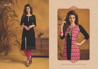 HIRWA GEMS PURE RAYON WITH CREAP JACKET KURTI WHOLESALE BEST RATE BY GOSIYA EXPORTS SURAT (22)