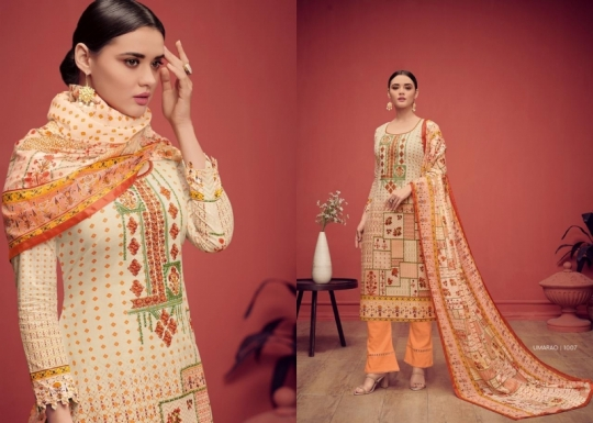 HOUSE OF LAWN PRESENTS UMARAO JAM SATIN FABRIC DRESS MATERIAL AT WHOLESALE BEST RATE BY GOSIYA EXPORTS SURAT (2)