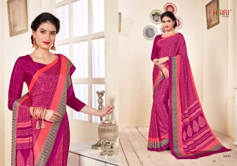HRAJ FASHION BY CRAPE PRINTS CASUAL WEAR SAREES COLLECTION WHOLESALE ONLINE BEST RATE BY GOSIYA EXPORT SURAT (5)