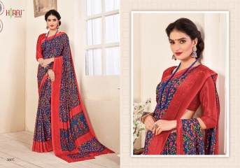 HRAJ FASHION BY CRAPE PRINTS CASUAL WEAR SAREES COLLECTION WHOLESALE ONLINE BEST RATE BY GOSIYA EXPORT SURAT (7)