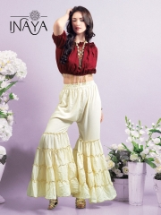 INAYA BY STUDIO LIBAS GHARARA PANTS PURE COTTON REYON COLLECTION WHOLESALE SELLER BEST RATE BY GOSIYA EXPORTS SURAT (1)