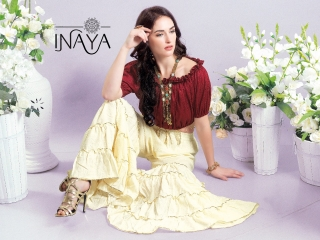 INAYA BY STUDIO LIBAS GHARARA PANTS PURE COTTON REYON COLLECTION WHOLESALE SELLER BEST RATE BY GOSIYA EXPORTS SURAT (2)