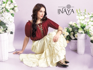 INAYA BY STUDIO LIBAS GHARARA PANTS PURE COTTON REYON COLLECTION WHOLESALE SELLER BEST RATE BY GOSIYA EXPORTS SURAT (3)