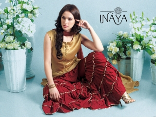 INAYA BY STUDIO LIBAS GHARARA PANTS PURE COTTON REYON COLLECTION WHOLESALE SELLER BEST RATE BY GOSIYA EXPORTS SURAT (5)