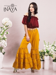 INAYA BY STUDIO LIBAS GHARARA PANTS PURE COTTON REYON COLLECTION WHOLESALE SELLER BEST RATE BY GOSIYA EXPORTS SURAT (7)