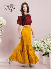INAYA BY STUDIO LIBAS GHARARA PANTS PURE COTTON REYON COLLECTION WHOLESALE SELLER BEST RATE BY GOSIYA EXPORTS SURAT (8)
