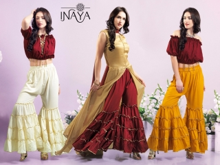 INAYA BY STUDIO LIBAS GHARARA PANTS PURE COTTON REYON COLLECTION WHOLESALE SELLER BEST RATE BY GOSIYA EXPORTS SURAT (9)