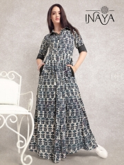 INAYA BY STUDIO LIBAS MAXI SHIRT K-16 COTTON PRINTS COLLECTION WHOLESALE DEALER BEST RATE BY GOSIYA EXPORTS SURAT (3)