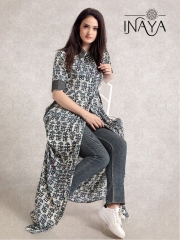 INAYA BY STUDIO LIBAS MAXI SHIRT K-16 COTTON PRINTS COLLECTION WHOLESALE DEALER BEST RATE BY GOSIYA EXPORTS SURAT (5)