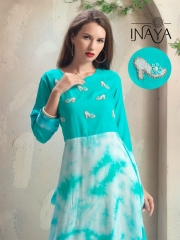 INAYA HIGH HEELS DESIGNER KURTIS 2 PIECE BEST RATE BY GOSIYA EXPORTS CATALOG (1)