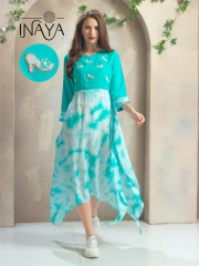 INAYA HIGH HEELS DESIGNER KURTIS 2 PIECE BEST RATE BY GOSIYA EXPORTS CATALOG (2)