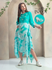 INAYA HIGH HEELS DESIGNER KURTIS 2 PIECE BEST RATE BY GOSIYA EXPORTS CATALOG (3)