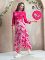 INAYA HIGH HEELS DESIGNER KURTIS 2 PIECE BEST RATE BY GOSIYA EXPORTS CATALOG (4)