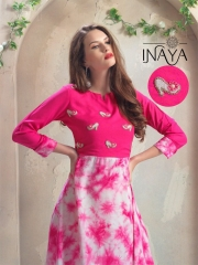 INAYA HIGH HEELS DESIGNER KURTIS 2 PIECE BEST RATE BY GOSIYA EXPORTS CATALOG (6)
