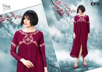 IRIS GEORGETTE WITH EMBROIDERY KURTI WHOLESALE SURAT BY GOSIYA EXPORTS SURAT (1)