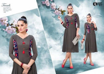 IRIS GEORGETTE WITH EMBROIDERY KURTI WHOLESALE SURAT BY GOSIYA EXPORTS SURAT (2)