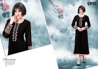IRIS GEORGETTE WITH EMBROIDERY KURTI WHOLESALE SURAT BY GOSIYA EXPORTS SURAT (3)