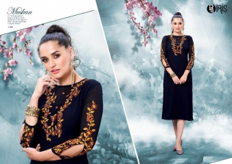 IRIS GEORGETTE WITH EMBROIDERY KURTI WHOLESALE SURAT BY GOSIYA EXPORTS SURAT (5)