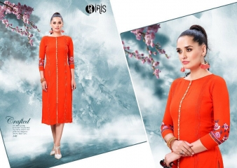 IRIS GEORGETTE WITH EMBROIDERY KURTI WHOLESALE SURAT BY GOSIYA EXPORTS SURAT (7)