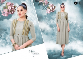 IRIS GEORGETTE WITH EMBROIDERY KURTI WHOLESALE SURAT BY GOSIYA EXPORTS SURAT (8)