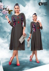 IRIS GEORGETTE WITH EMBROIDERY KURTI WHOLESALE SURAT BY GOSIYA EXPORTS SURAT