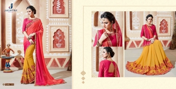 JAICHITRA KANIKA CATALOG GEORGETTE EMBROIDERED SAREES COLLECTION EXPORTS SURAT (1)