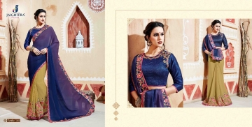 JAICHITRA KANIKA CATALOG GEORGETTE EMBROIDERED SAREES COLLECTION EXPORTS SURAT (2)