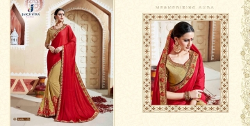 JAICHITRA KANIKA CATALOG GEORGETTE EMBROIDERED SAREES COLLECTION EXPORTS SURAT (5)
