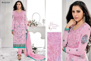 JINAAM DRESS PVT LTD RAZAH NOORIE GEORGETTE WHOLESALE SUITS BY GOSIYA EXPORTS SURAT (7)