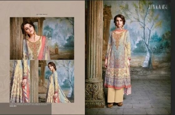 JINAAM DRESS SABIA PASHMINA PRINTS WITH KASHMIRI WORK WINTER COLLECTION E (1)