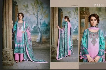 JINAAM DRESS SABIA PASHMINA PRINTS WITH KASHMIRI WORK WINTER COLLECTION E (2)