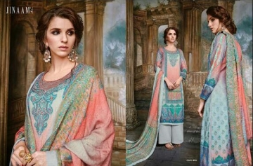 JINAAM DRESS SABIA PASHMINA PRINTS WITH KASHMIRI WORK WINTER COLLECTION E (5)